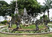 Buddha Statues In The Buddha Park In Vientiane, Laos. poster