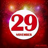 November 29 Icon. For Planning Important Day. Banner For Holidays And Special Days. Twenty-ninth Of  poster