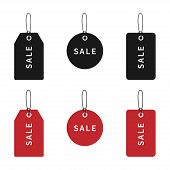 Sale Price Tags Collection. Price Tags Or Labels In Black And Red Color. Price Tags Or Labels, Isola poster