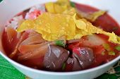 Chinese Noodles, Noodles Or Thai Noodles And Fried Wonton poster
