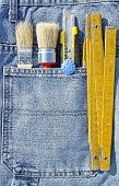 Tools and jeans pocket