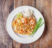 foto of thai cuisine  - Pad Thai stir - JPG