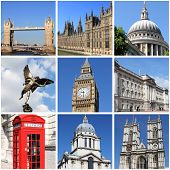 image of ero  - Collage of many landmarks of London - JPG