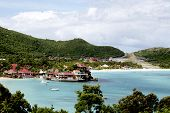 The Eden Rock hotel and St. Barths airport at St Barths