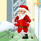 stock photo of lame  - Cartoon Character Santa Claus - JPG