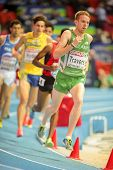GOTHENBURG, SWEDEN - MARCH 1  John Travers (Ireland) places 11th in heat 3 of the men's 3000m event