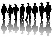 pic of special forces  - Vector drawing of special police force - JPG