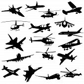 pic of fighter plane  - Silhouette helicopter fighter plane - JPG