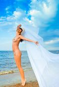 picture of nudist beach  - Joy Outside Wings - JPG