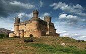 Manzanares El Real Castle (spain), Build In The 15Th. Century