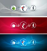 foto of beating-heart  - Medical health care concept illustration set - JPG