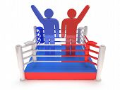foto of boxing ring  - Two men on boxing ring - JPG
