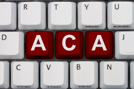 image of mandate  - Computer keyboard keys with word ACA Affordable Care Act - JPG
