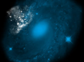 foto of big-bang  - background with galaxy motive  - JPG