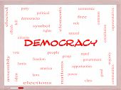 image of bill-of-rights  - Democracy Word Cloud Concept on a Whiteboard with great terms such as people rights vote and more - JPG