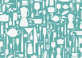 picture of ladle  - Illustration of seamless pattern with cooking icons background - JPG