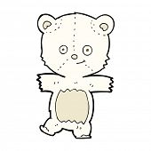 cartoon cute polar teddy bear