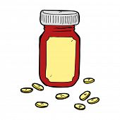cartoon jar of pills