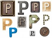 image of letter p  - Alphabet made of wood - JPG