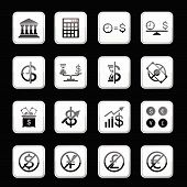 Money App Icon Set. Vector
