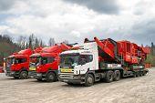 stock photo of oversize load  - CHELYABINSK REGION RUSSIA  - JPG