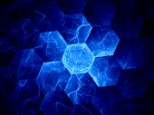 stock photo of graphene  - Blue graphene grid computer generated abstract background - JPG