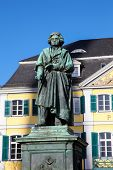 pic of bonnes  - Famous Beethoven Monument in front of the Postamt in Bonn North Rhine Westphalia Germany - JPG