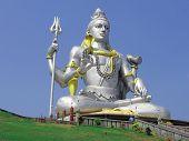 image of bharata-natyam  - Hundu god Shiva statue in Murudeswar - JPG