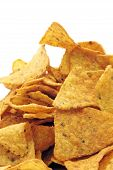 pic of doritos  - a pile of nachos isolated on a white background - JPG