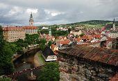 picture of bohemia  - Beautiful historical town Cesky Krumlov in South Bohemia - JPG