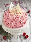 stock photo of ice-cake  - Homemade Delicious Peppermint Ice - JPG