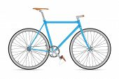 image of bicycle gear  - The blue fixed gear bike - JPG