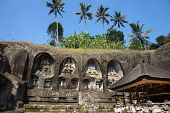 foto of gunung  - Gunung Kawi is a temple complex in Bali Island centered around royal tombs carved into stone cliffs dating back to the 11th century - JPG