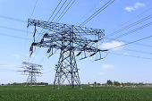 pic of voltage  - High voltage towers - JPG