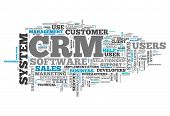 pic of customer relationship management  - Word Cloud with CRM  - JPG
