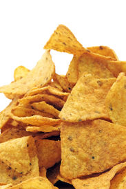picture of doritos  - a pile of nachos isolated on a white background - JPG