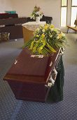 picture of funeral  - Casket at a funeral - JPG