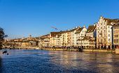 pic of zurich  - Buildings at the embankment of Zurich  - JPG