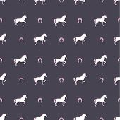 foto of pegasus  - Seamless pattern with a horse vector background - JPG