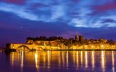 foto of avignon  - View of medieval town Avignon at morning UNESCO world heritage - JPG