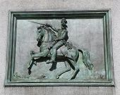 pic of plaque  - General Worth Plaque at General William Jenkins Worth Monument in Manhattan - JPG