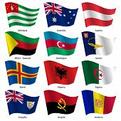 picture of flags world  - Set  Flags of world sovereign states - JPG