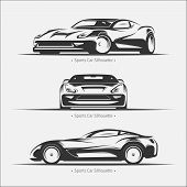 foto of car symbol  - Set of modern car silhouettes - JPG