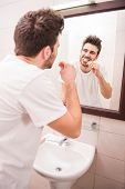image of teeth  - Morning routine of washing the teeth - JPG