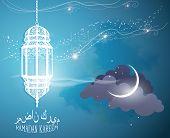 stock photo of hari raya  - Islamic poster - JPG