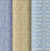 pic of knitting  - Knitted plaited pattern with front and back knitting 3 colours - JPG
