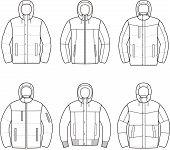 picture of down jacket  - Vector illustration of men - JPG