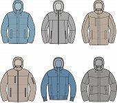 image of down jacket  - Vector illustration of men - JPG