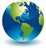pic of world-globe  - Editable vector illustration of a globe of the world - JPG
