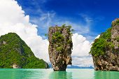 picture of kan  - limestone Island in Phang Nga Thailand, Asia ** Note: Soft Focus at 100%, best at smaller sizes - JPG